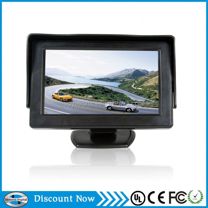 4.3 inch car rearview mirror DVR TFT LCD monitor with wireless camera