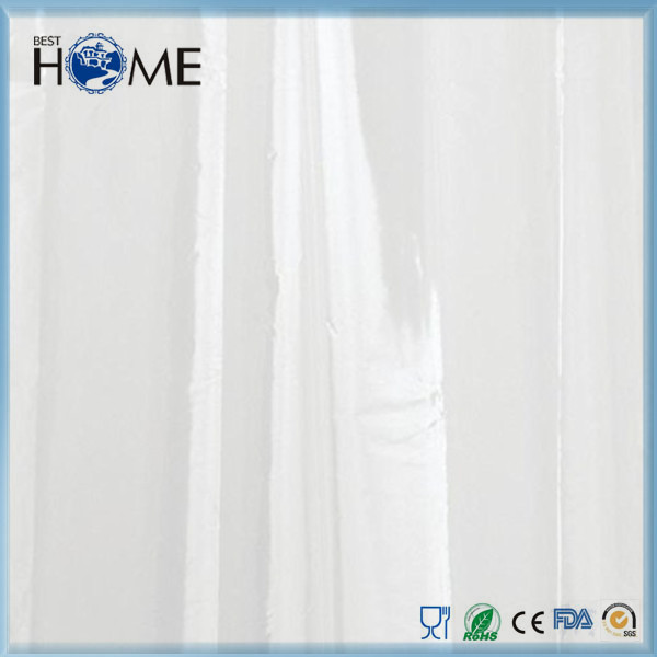 Clear vinyl fancy shower curtains