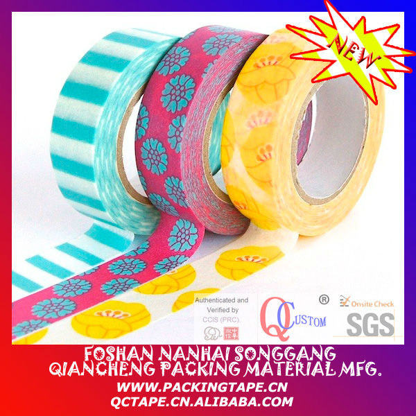 Printed portugal washi tape made in china SGS
