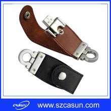 BSCI Factory 2016 New Model Keychain USB Flash Drive Leather