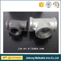 High quality cheap price black galvanized malleable iron threaded pipe fitting, black iron pipe butt welded fittings