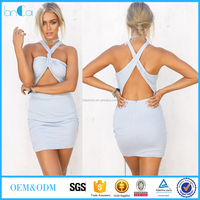 Cheapest women dress Picture/SleevelessTurquoise Sexy Blouse Designs Women Clothes Wholesale OEM Manufacturer Factory China