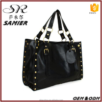 2016 Lady fashion washable leather high quality handbag women's custom hand bag wholesale Manufacturers China Supplier Guangdong