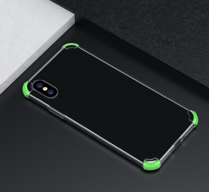 For iPhone x Simple high quality TPU+ TPE airbag drop soft phone case shell