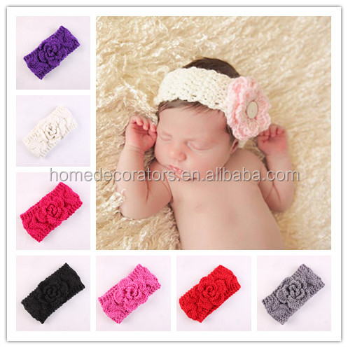 Newborn Photo Props Baby Crochet Headbands Flower Headbands