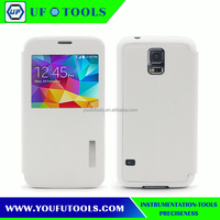 New design leather back cover stand mobile phone case for Samsung galaxy S5 case
