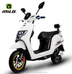 60V800W Eco-Friendly Electric Moped Scooter/2 Wheel E-Bike- White with lithium