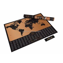 2017 wholesale black scratch Map Deluxe Edition Personalised World Map