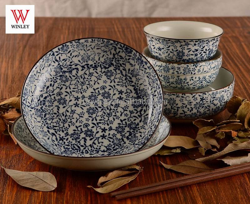 high quality blue&white porcelain Japanese style 20pcs dinnerware place set