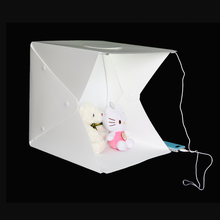 40cm portable photographic equipment Square tent Studio soft box for shooting with 2 led strips