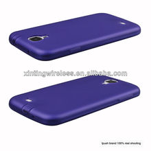 With Dust plug translucency hard rubber case for Samsung Galaxy S4 i9500