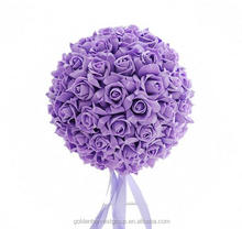 Factory sale various styles hanging decorative artificial PE foam rose flower ball