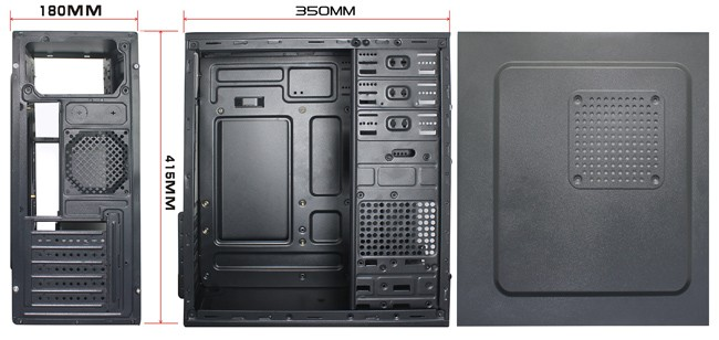 Normal Office desktop ATX Case with 3 USB Port