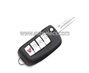 Fit For N issan Modified Remote Flip Key 4 Button 315Mhz KBRASTU15