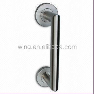 Custom stainless steel door pull rubber cabinet shell knob for Custom stainless steel cabinet doors