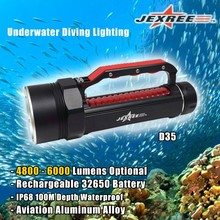 Scuba 5000 Lumens IP68 Waterproof Underwater LED Diving Torch