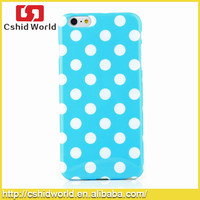 Colorful Soft TPU Back Skin Pouch Polka Dots Cover Case for iPhone 6 Plus 5.5""
