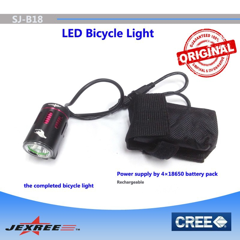 bicycle acceesories bike light,aluminum alloy Led flash light, Led torch with 18650 battery pack