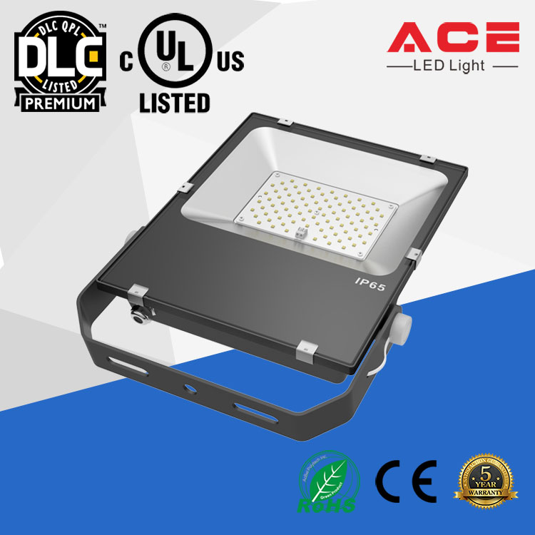5 years warranty IP65 UL DLC listed 90w led flood lighting