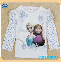 (F5271) children's boutique clothing baby clothes brand NOVA girls frozen t shirt