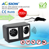Best Selling With CE&RoHS Two Speaker Electronic Ultrasonic Pest Reject, Mpuse Repeller
