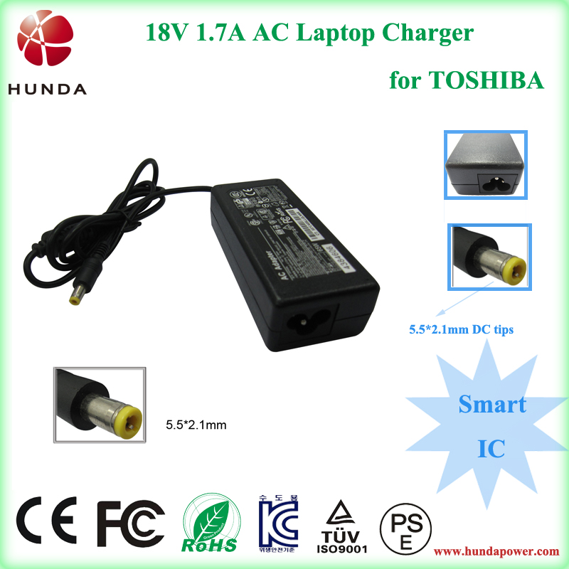US plug in universal 18 volt 1.7 amp ic power adapter for toshiba laptop AC