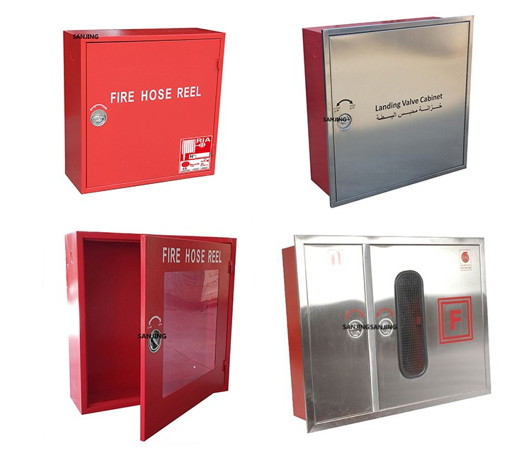 Supplying Various Types Fire Hose Reel Cabinet Wall-mounted Fire ...