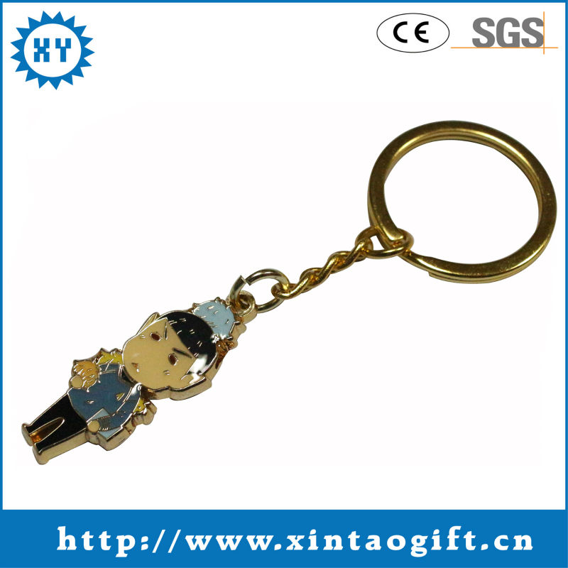 2017 Promotional gifts key chains metal for children