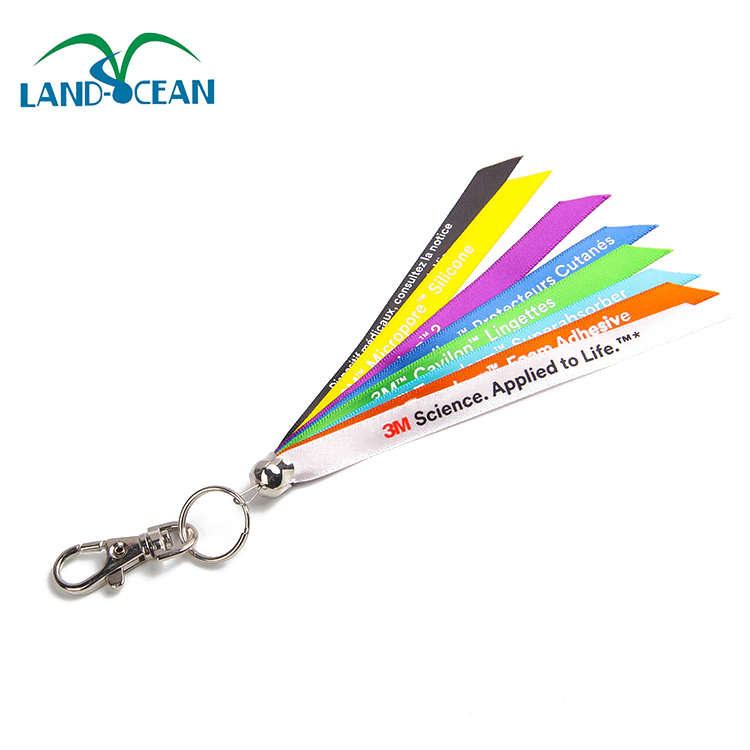 2016 Wholesale rainbow multi colored new craft lanyard