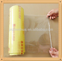 protective film SGS certificate logo printing soft pvc 1500m cling film for cooking