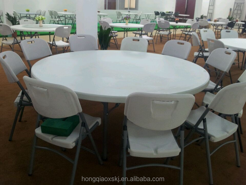 Wholesale stable round 6ft folding dining banquet event for 6ft round dining table