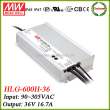 Meanwell HLG-600H-36 36v dimming led driver