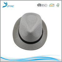 New 2017 hat fedora ,straw fedora hat wholesale,straw hat made in china