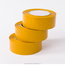 waterproof yellowish bopp packing tape adhesive solvent based acrylic yellow bopp tape hot melt