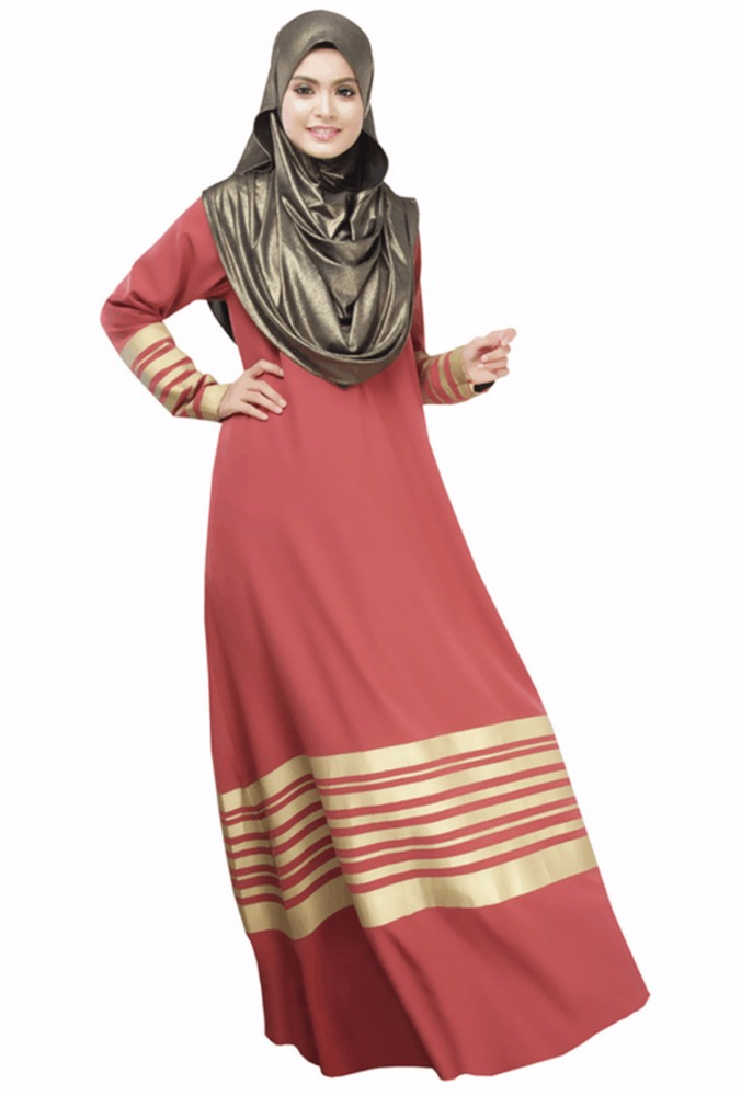 Fashion women shinny muslimah jubah long dress plus size
