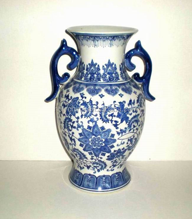 hot sale high quality custom made chinese porcelain vases blue white