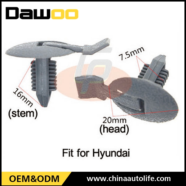 Used for Hyundai plastic trim rivets automotive clips