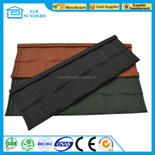 Black corrugated stone coated metal roofing sheet