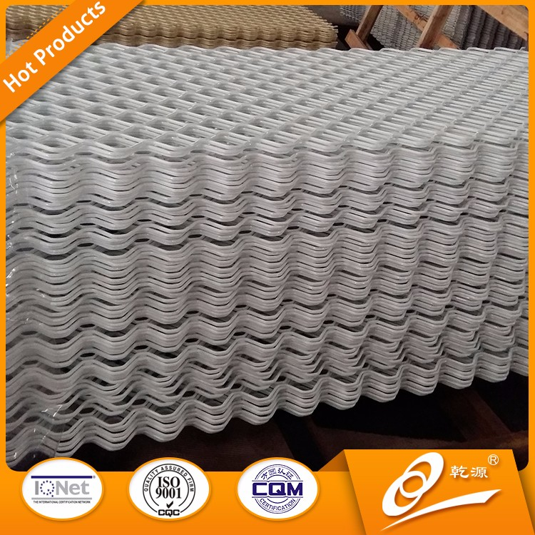 Building Facade Decorative Stretched Aluminum Industrial Expanded Metal Mesh