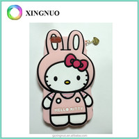Silicone Pink Hello Kitty girls phone case for iphone 6 plus