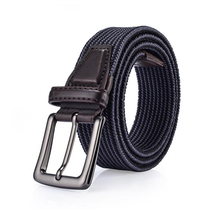 Woven Belt Fashion Unisex Multicolor Stretch Braided Elastic Cotton Men's Braided Belt