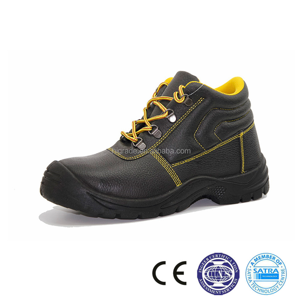 214005 China Suede leather safety shoes supplier long cut safety shoe
