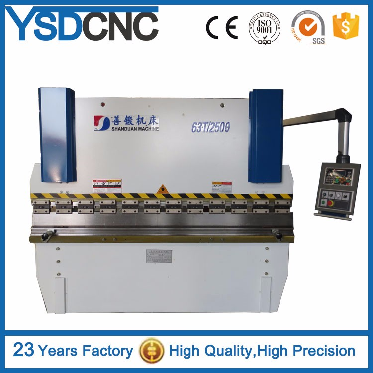 hydraulic brake press for sale with E21system manual sheet metal bending machine