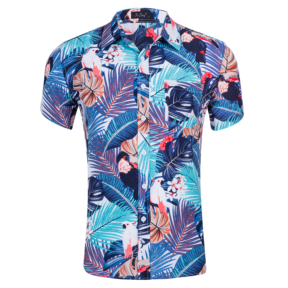 custom top <strong>quality</strong> short sleeve men 100% cotton printing hawaiian shirt