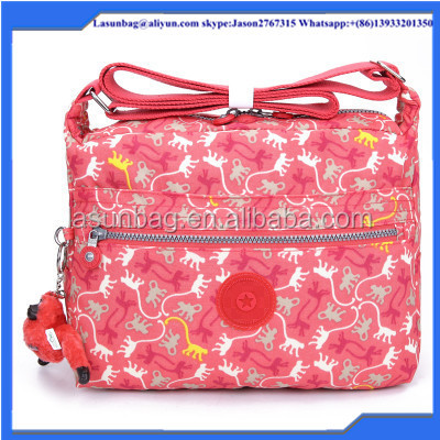 Fashion Ladies Sport Bag Kipled Durable Washed Nylon Single Strap One Shoulder Bags for Sports