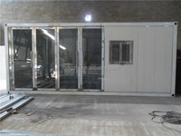 Container house with glass door / Container house with side hung door