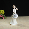 European Character Ornaments Statues Victorian Lady