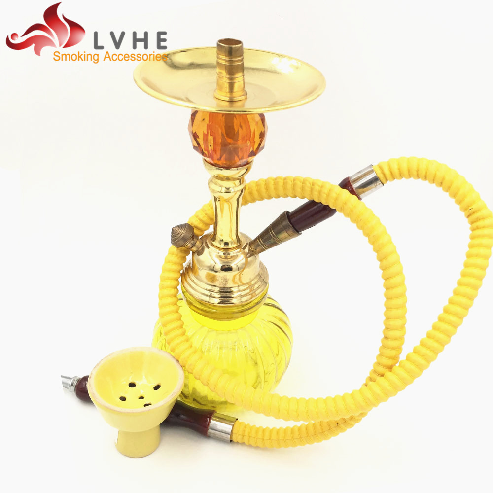 065AS Mix Colors Hot Tobacco Flavor All Glass Hookah Shisha