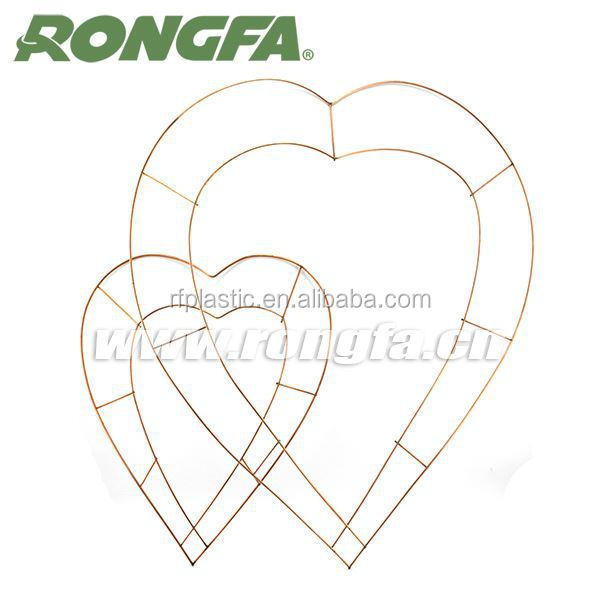 copper coated double ring craft wire heart shape