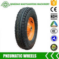16 inch heavy duty rubber wheelbarrow wheel with 535lbs capacity